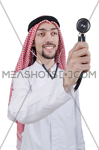 Young arab doctor with stethoscope
