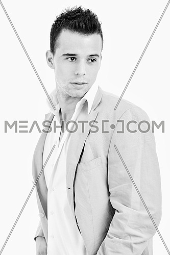 young man fashion isolated on white