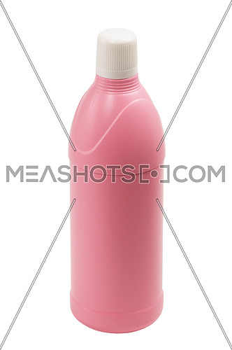 coulored plastic bottle isolated on white background
