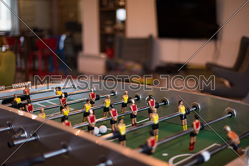 soccer table in a large startup office room