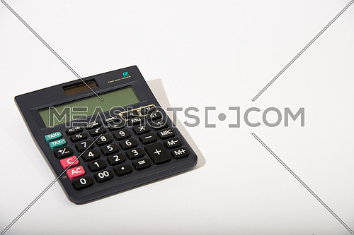 black calculator isolated on white