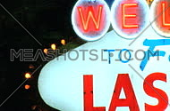 Detail shot of Las Vegas sign