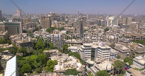 Pedestal shot revealing Cairo Garden City area City Line at day