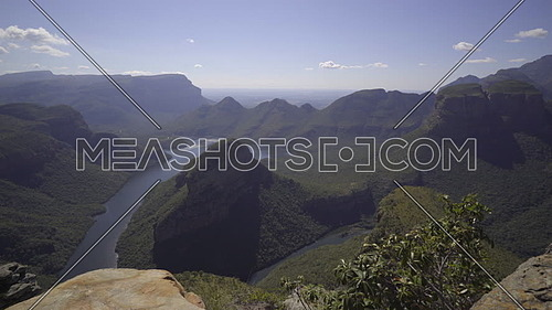 Pan down to the exotic Blyde river canyon