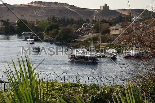 a view of the nile in aswan