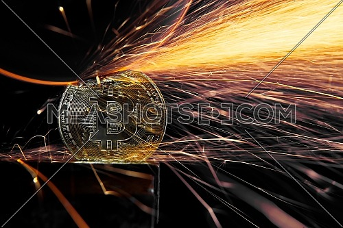 Electric wheel grinding on Bitcoin