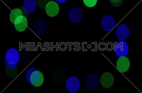 Multicolor festive lights bokeh background