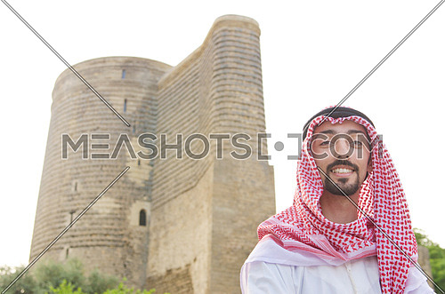 Arab on the street in summer