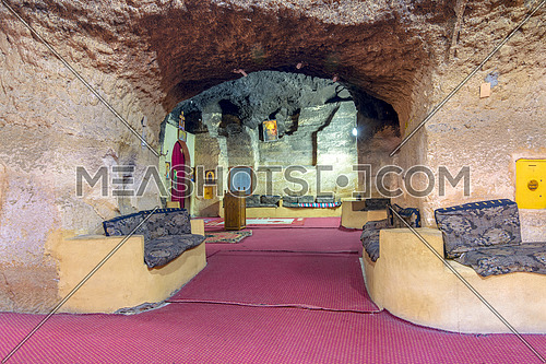 Church of Saint Paula, one of seven Churches and Chapels hidden in a series of caves in the Mokattam (Muqattam) hills, Cairo, Egypt