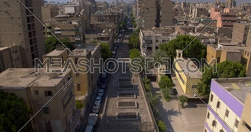 Follow shot for Metro Tunnel starting from Urban in cairo at day