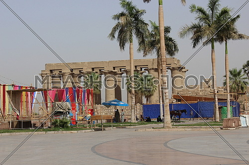 a photo for Luxor temple from outside in luxor city, Egypt