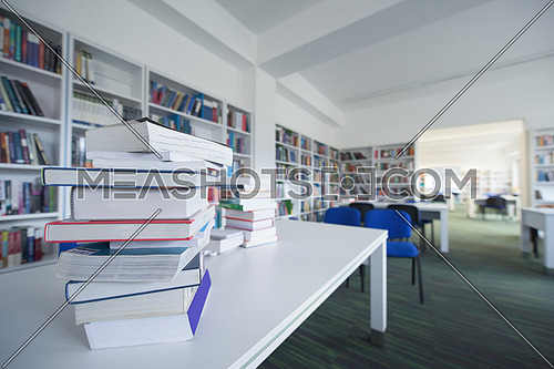An empty school library representing education concept