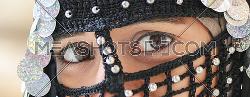 Girl`s eyes - wearing old Egyptian costumes