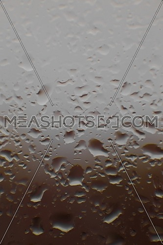 Closeup of water rain drops on the window.
