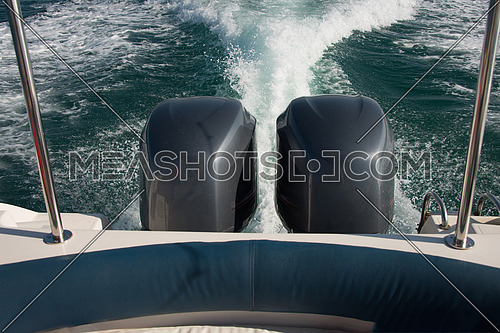 2 engines on a fishing boat