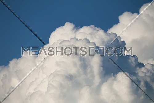 3d white Cloud layers in blue sky