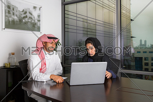 Busy employees in a meeting room
