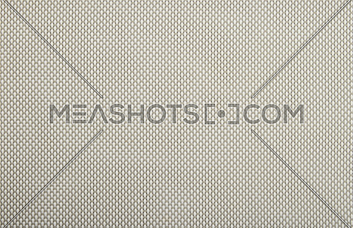 Background texture of horizontal gray and vertical white wicker braided plastic double strings with small mesh