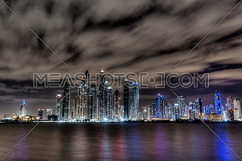 Dubai Sky Line at Night - UAE