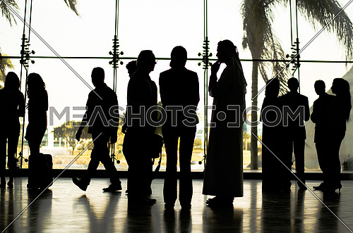 business meeing that include several people from several nationalities