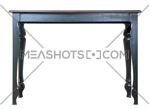 Vintage Furniture - Retro wooden vintage table with blue legs isolated on white background including clipping path