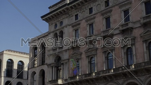 Milan, Italy - May 03, 2021: Crowd of tourists in the square in front of the Duomo of Milan, Italy.