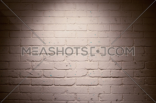 stylish white brick wall in an office in the Middle East