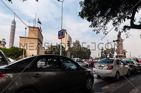 Zoom In shot for Opera Square at Cairo at Day