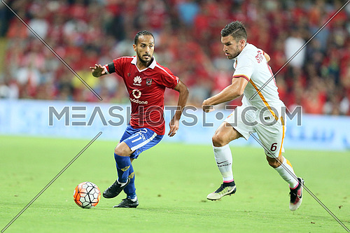 Egyptian football team el ahly plays against AS Roma in abu Dabhi UAE