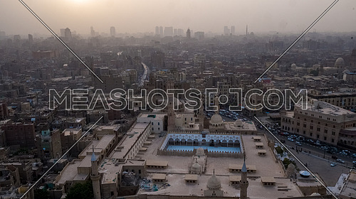Extreme Long Shot for Al-Azhar Mosque in Cairo by day.