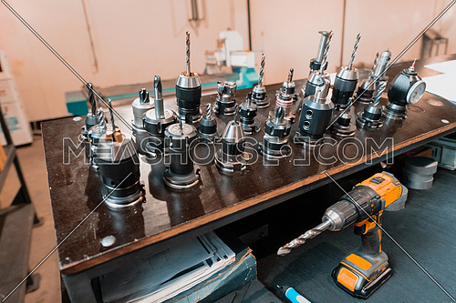 The collection of drilling tool for CNC machine. The hole making tool for hard material on CNC machining center. High quality photo