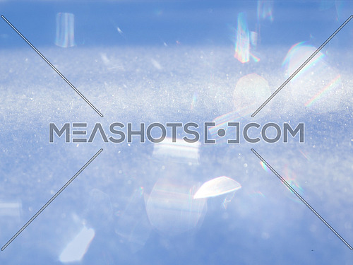 abstract background of snow texture sparkling in the sun