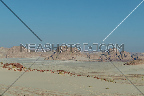 Long shot for Ain Hodouda - Sinai Trail by day.
