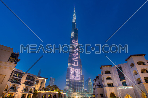 Dubai - JANUARY 9, 2015: Burj Khalifa building