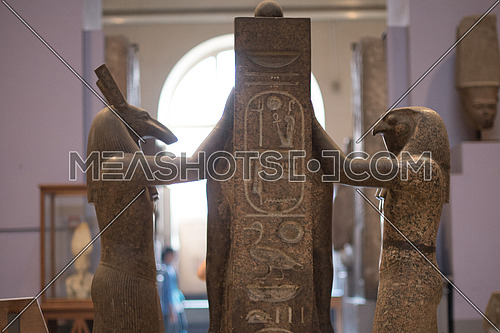 Horus and Set Representing the Good and the Bad sides of Humanity confronting each others  in the Egyptian Museum