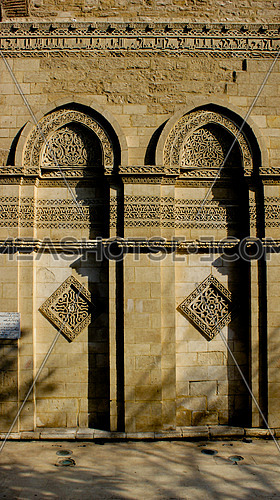Fatimid Cairo.. The western wall of Al-Hakim B'amr Allah mosque's entrance.