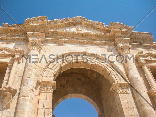 The main entrance gate of Jarash in Jordan