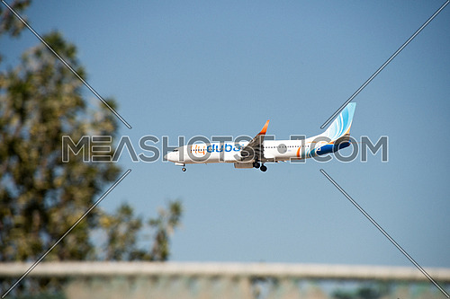 Fly Dubai Boing 737-800 Airplane landing