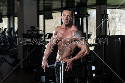 Portrait Of A Physically Fit Man In Modern Fitness Center