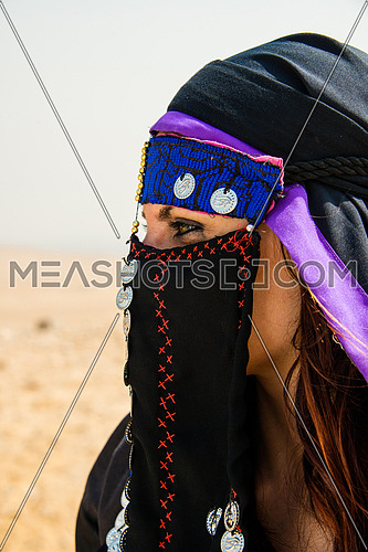 A portrait shot of an egyptian bedouin woman