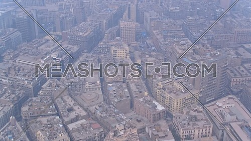 Fly Over Shot Drone for Cairo Downtown in 22 of March 2018 at Day