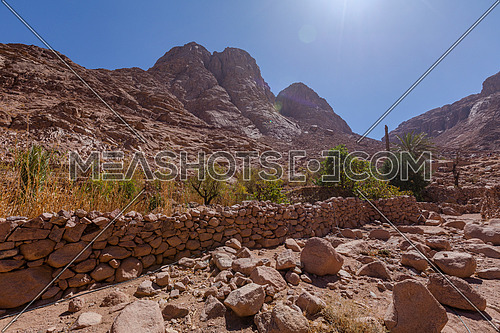 long shot for Sinai Mountain from Wadi Freij at day.