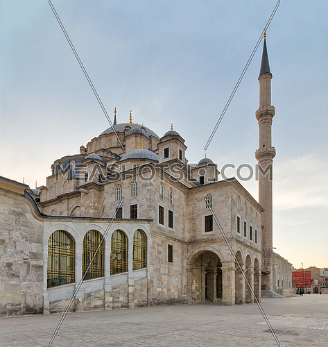 Angled day shot of Suleymaniye Mosque, an an Ottoman imperial mosque located on the Third Hill of Istanbul, Turkey, and the second largest mosque in the city
