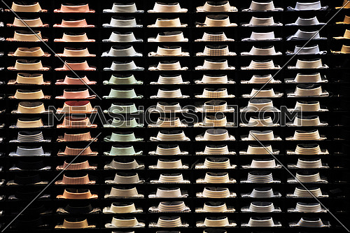 man business fashion concept, Ties on the shelf of a shop