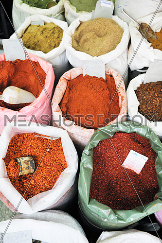 oriental spice market store at turkey