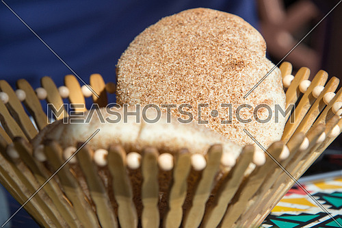 Egyptian Bread in a basket
