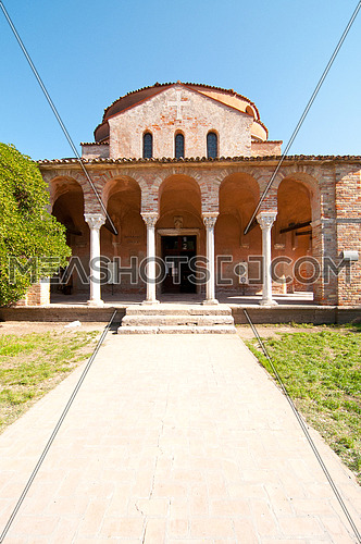 Venice Italy Torcello Cathedral of Santa Maria Assunta view