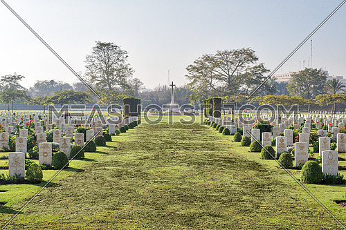 Heliopolis Commonwealth War Cemetery, contains 1742 burials of the Second World War, opened in October 1941
