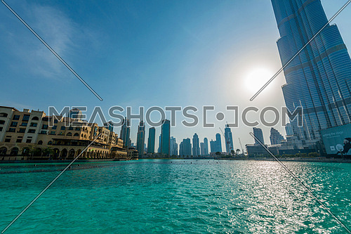 Burj Khalifa skyscraper in Dubai UAE, is tallest tower in the world