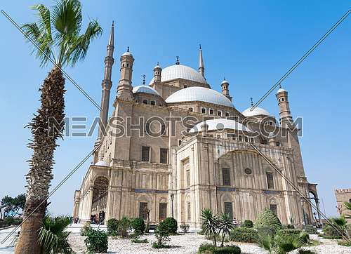 The great Mosque of Muhammad Ali Pasha (Alabaster Mosque), situated in the Citadel of Cairo, Egypt